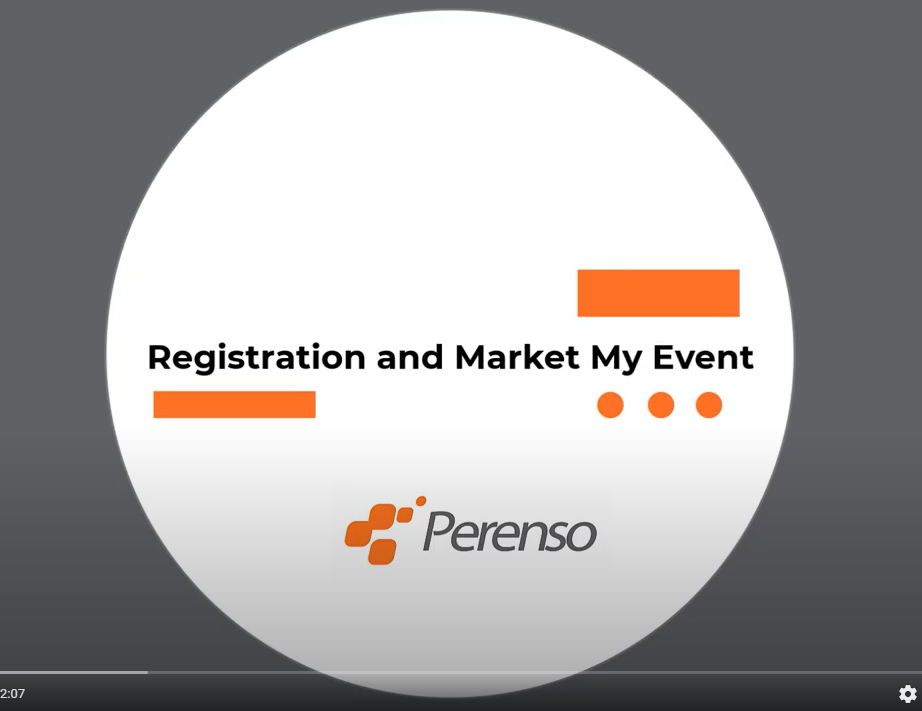 Perenso's registration and Market My Event features allow you to save time and money while organizing your next event.